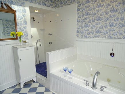 Brewster, The Highlands Cape Cod vacation rental - Master Bath features generous jacuzzi and shower.