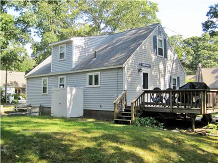 West Harwich Cape Cod vacation rental - Back of house and outside shower