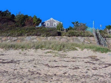 Dennis Port Cape Cod vacation rental - Looking up from the beach