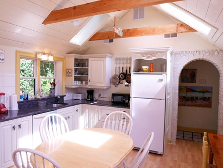 Chatham Village Cape Cod vacation rental - Modern kitchen with granite, cathedral ceilings and fully stocked