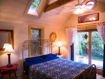 Chatham Village Cape Cod vacation rental - Queen bed (Tempurpedic) with beautiful wrought iron headboard