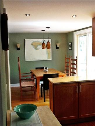 Provincetown Cape Cod vacation rental - View of dining area with kitchen in the foreground