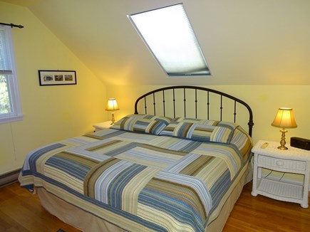 Wellfleet Cape Cod vacation rental - Large upstairs King bedroom with Flat screen TV