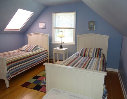 Wellfleet Cape Cod vacation rental - Colorful Twin bedroom upstairs with skylight