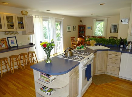 Wellfleet Cape Cod vacation rental - Clean, bright and well supplied kitchen opens to deck and dining