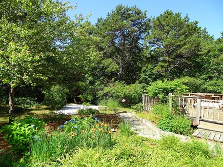 Wellfleet Cape Cod vacation rental - Spacious back yard gardens, pergola, and sitting areas