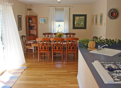 Wellfleet Cape Cod vacation rental - Sunny dining area welcomes eight to share a meal