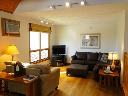 New Seabury (Mashpee) New Seabury vacation rental - Bright living room with flat screen TV, door to pool area