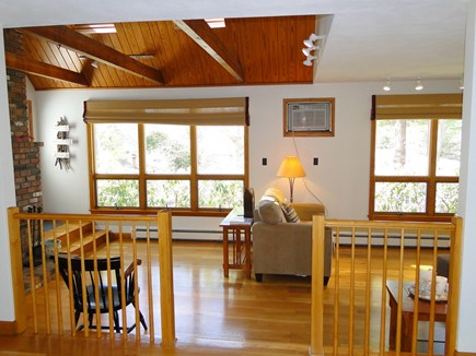 New Seabury (Mashpee) New Seabury vacation rental - Living room with cathedral ceiling, skylights, fireplace