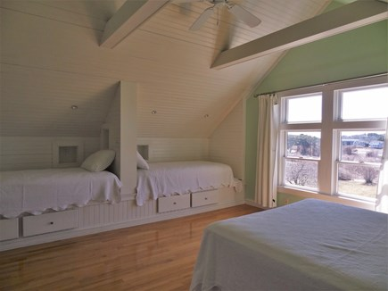 Oyster Pond/Chatham Cape Cod vacation rental - Green Bedroom - 2 Twin Beds and Queen Bed
