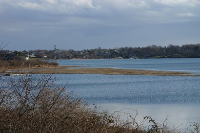 Oyster Pond/Chatham Cape Cod vacation rental - View of Downtown Chatham from back deck