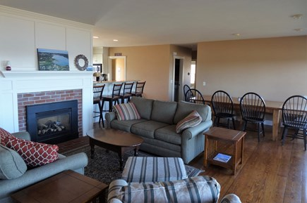 Oyster Pond/Chatham Cape Cod vacation rental - Living Room with dining room