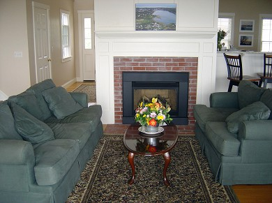Oyster Pond/Chatham Cape Cod vacation rental - Living Room from back deck