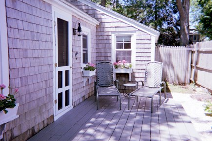 Dennis Port Cape Cod vacation rental - 7:00 am sun - Back deck