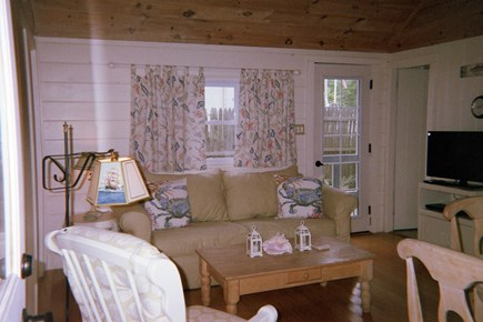 Dennis Port Cape Cod vacation rental - Living room with very comfortable sofa & rocker glider chair