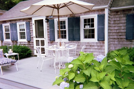 Dennis Port Cape Cod vacation rental - Front Deck dining