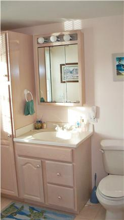 Falmouth Cape Cod vacation rental - Master Bath with walk-in shower and laundry area.