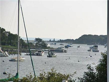 Falmouth Cape Cod vacation rental - View from Deck down the river looking at Martha's Vineyard