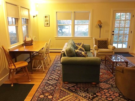 Eastham Cape Cod vacation rental - Living and dining area with views to Great Pond