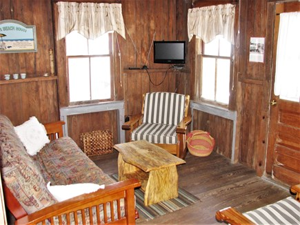 Truro - Corn Hill Cape Cod vacation rental - Living room with water views - viewed from DR