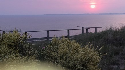 Truro - Corn Hill Cape Cod vacation rental - Community deck with views of Ptown to Plymouth