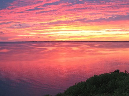Truro - Corn Hill Cape Cod vacation rental - Amazing sunset over Ptown from our porch
