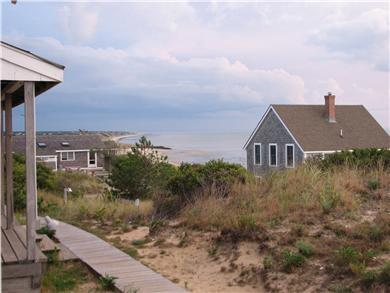Truro - Corn Hill Cape Cod vacation rental - Southbound view  of Pamet Harbor from front porch of cottage