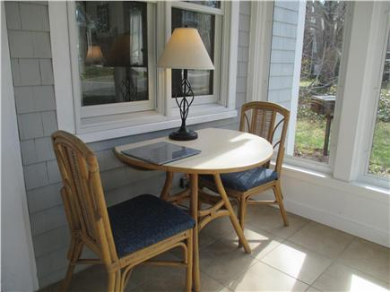 Wellfleet Cape Cod vacation rental - Dining area on the Three Season Porch