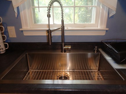 Centerville West Hyannisport Cape Cod vacation rental - Brand new stainless Farmer's sink with spray nozzle