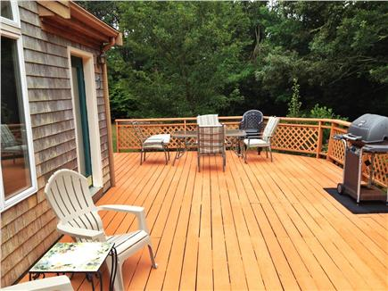 Harwich Cape Cod vacation rental - Front Deck facing pond