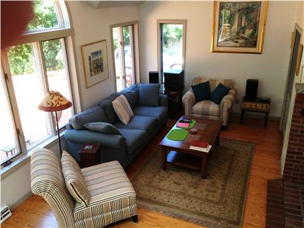 Harwich Cape Cod vacation rental - Living Room facing pond