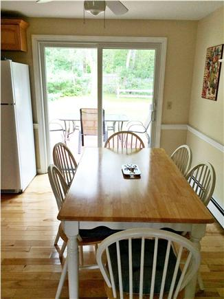 East Harwich, Pleasant Bay Cape Cod vacation rental - Eat in kitchen opens to the back deck