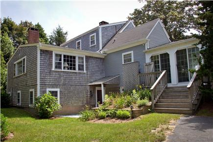East Orleans Cape Cod vacation rental - Rear view and great backyard for games.