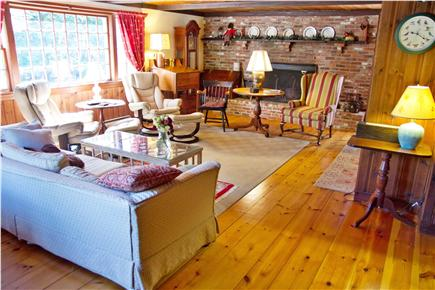 East Orleans Cape Cod vacation rental - Spacious living room 25 x 15 with fireplace