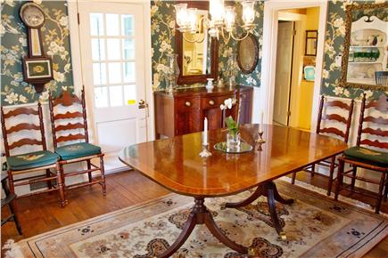 East Orleans Cape Cod vacation rental - Space for a terrific Cape Cod meal – dining area next to porches