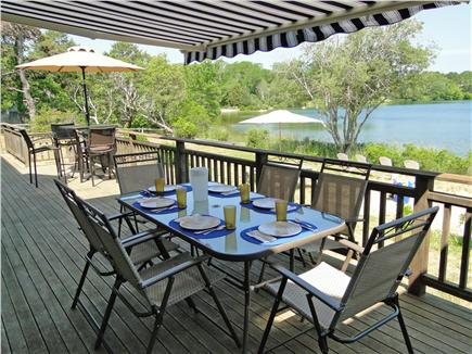 Eastham - Herring Pond Cape Cod vacation rental - Dine and relax on the large deck facing Herring Pond