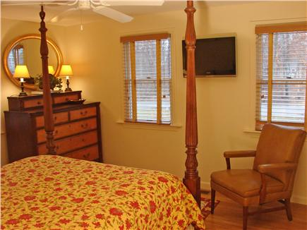 East Falmouth Cape Cod vacation rental - Main floor master bedroom with queen bed, flat screen TV