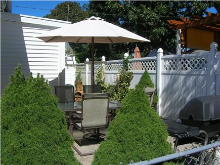 Swift's Beach, Wareham MA vacation rental - Back  Patio with grill and outdoor shower