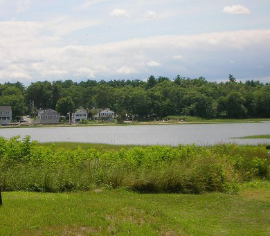 Swift's Beach, Wareham MA vacation rental - The Cove View from the Master bedroom and living room