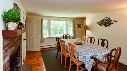 North Eastham Cape Cod vacation rental - Dining Room with Wood floors and big table for family dinners!