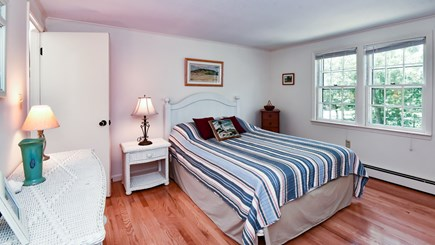 North Eastham Cape Cod vacation rental - Bedrm #1- First Floor Bedroom with wood floors and Queen Bed-Bed