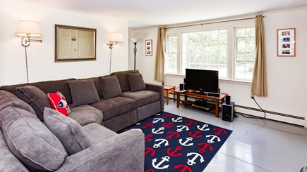 North Eastham Cape Cod vacation rental - Sunny Living Room with new couch