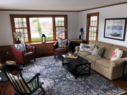 Chatham Cape Cod vacation rental - The newly furnished Family Room opens to a spacious deck.