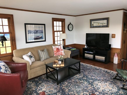 Chatham Cape Cod vacation rental - Large screen TV, DVD and Sleep Sofa.