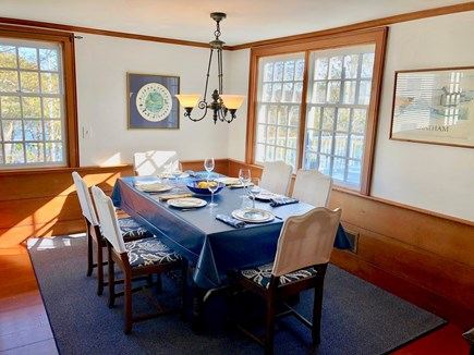 Chatham Cape Cod vacation rental - The dining area overlooks the water!