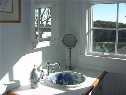 Chatham Cape Cod vacation rental - Charming Master Bath has Chatham Pottery sink!