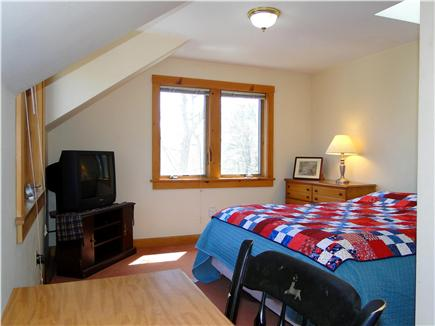 Hyannis Cape Cod vacation rental - Master queen bedroom with TV, desk, skylight, bathroom access