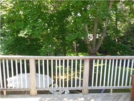 Hyannis Cape Cod vacation rental - Upper deck overlooks back yard