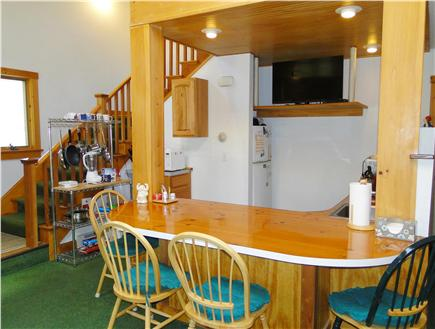 Hyannis Cape Cod vacation rental - Open staircase leads to two bedrooms, loft, full bath