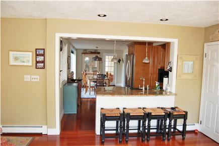 South Chatham Cape Cod vacation rental - Dining area is open to kitchen and living room